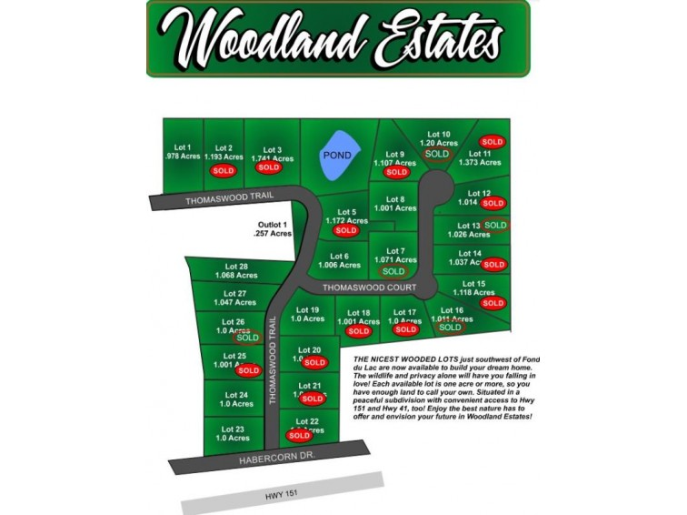 THOMASWOOD CT, Fond Du Lac, WI by Roberts Homes and Real Estate $32,500