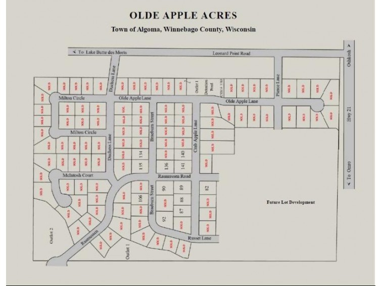 BRAEBURN ST Lot 90, Oshkosh, WI by Midwest Real Estate, Inc. $58,900