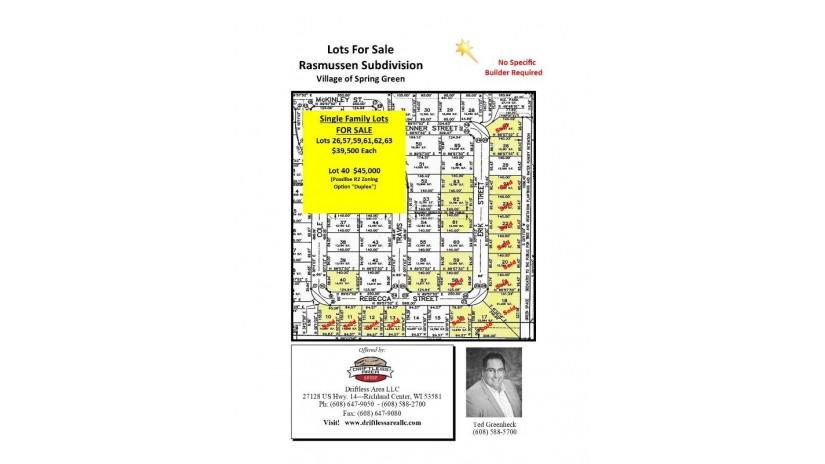 0 Rebecca St/Erik St Spring Green, WI 53588 by Driftless Area Llc $36,500