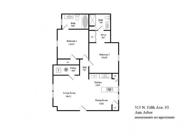 515 N Fifth 3, Ann Arbor, MI, 48104
