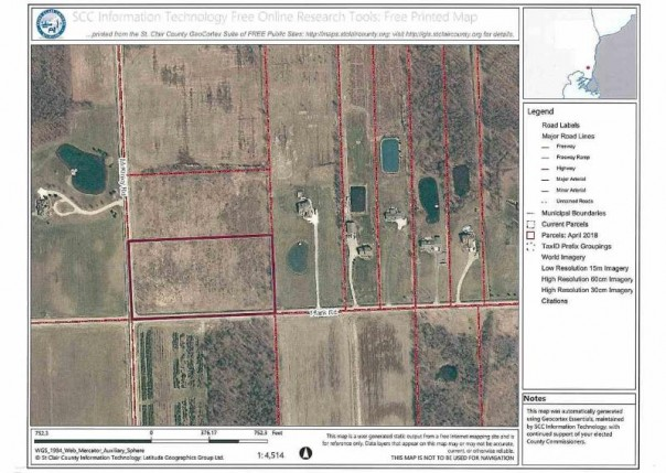 5.78 acres Mckinley, Marine City, MI, 48039