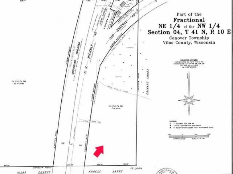 7 Ac On Hwy 45, Conover, WI by First Weber Real Estate $24,500