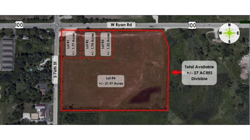 Lt0 S 76th St Franklin, WI 53132 by Anderson Commercial Group, LLC $0