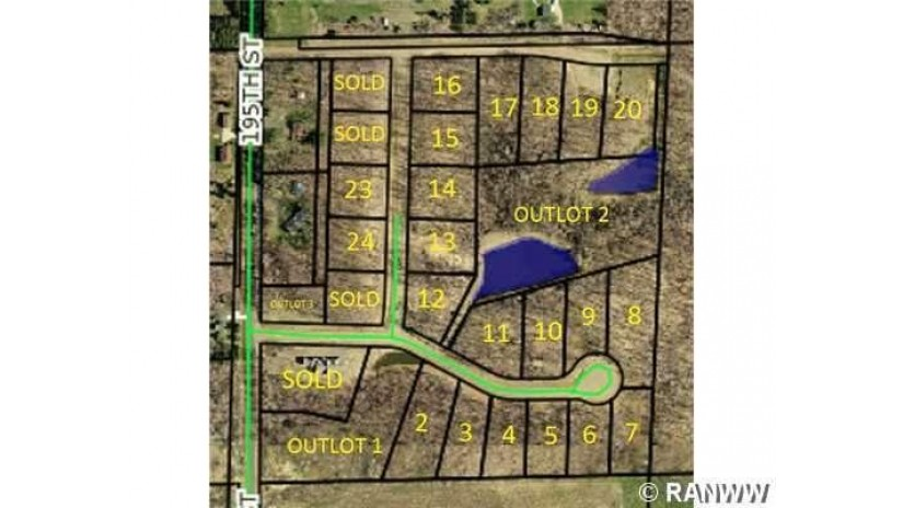 Lot 24 195th Street Chippewa Falls, WI 54729 by Woods & Water Realty Inc, Chippewa Falls $34,500