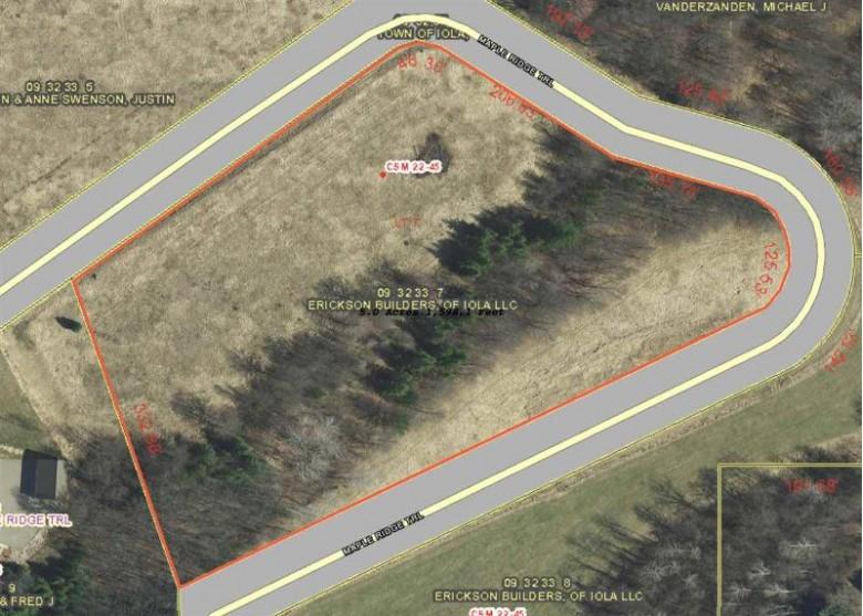 Maple Ridge Trail, Iola, WI by RE/MAX Lyons Real Estate $33,000