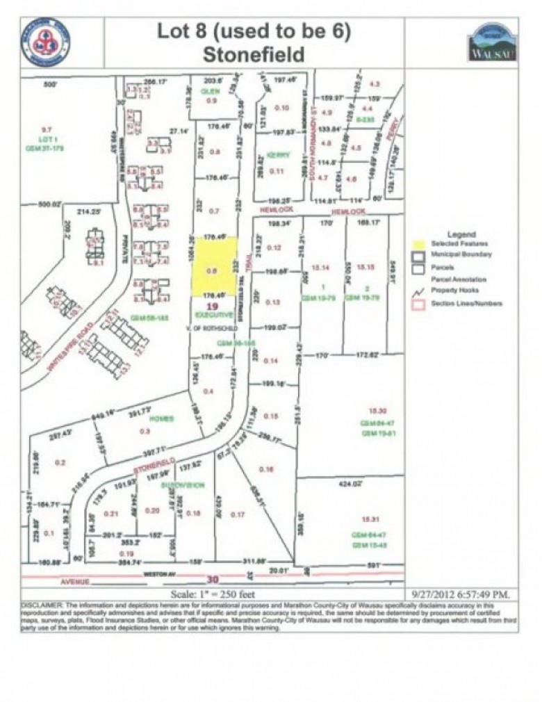7613 Stonefield Trail LOT 20, 7613 STONEFIELD, Rothschild, WI by First Weber Real Estate $42,000