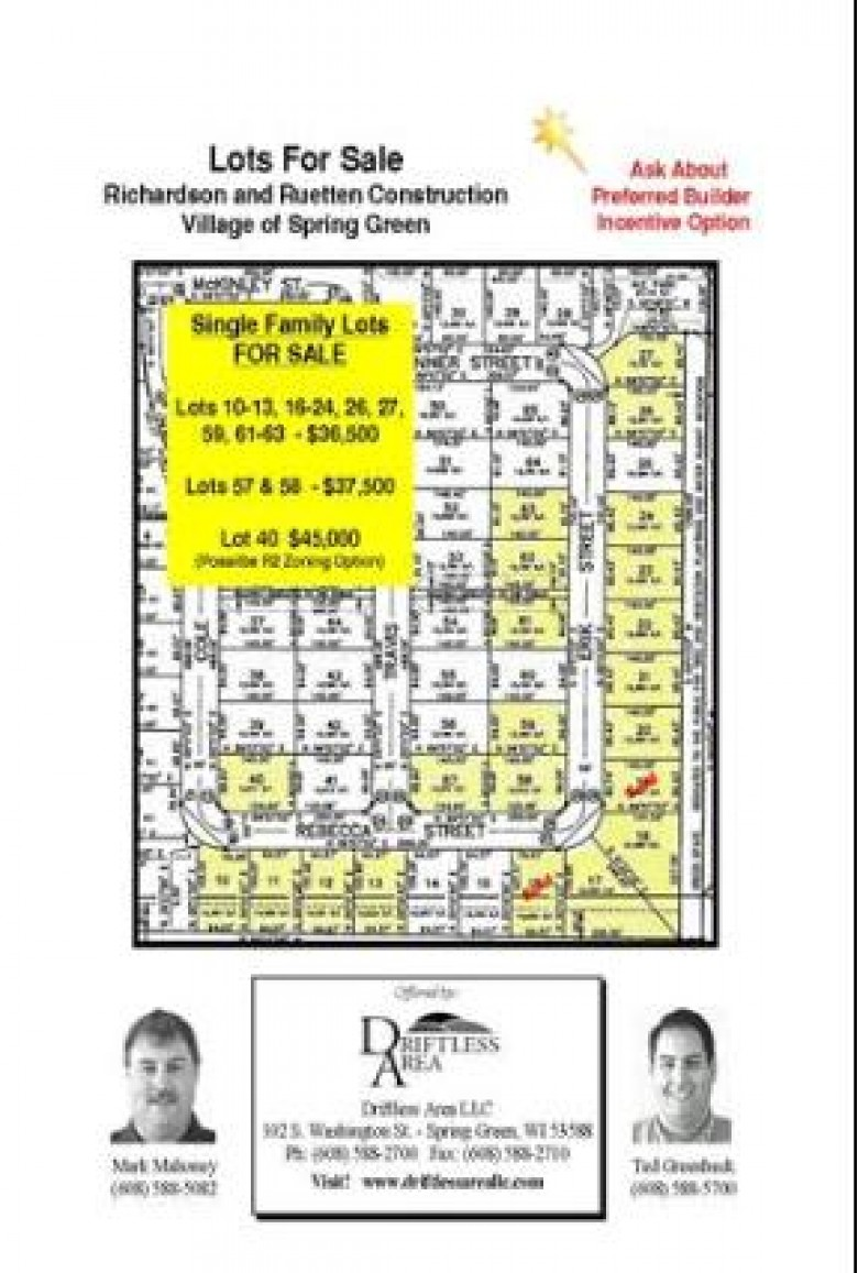 0 Travis St, Spring Green, WI by Driftless Area Llc $39,500
