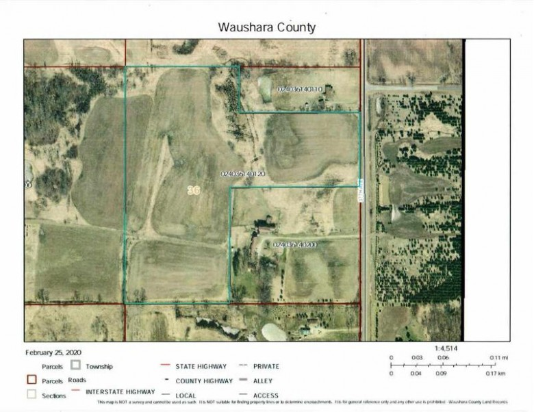 24.9 AC 37th Ave, Poy Sippi, WI by Whitemarsh Properties Llc $124,500