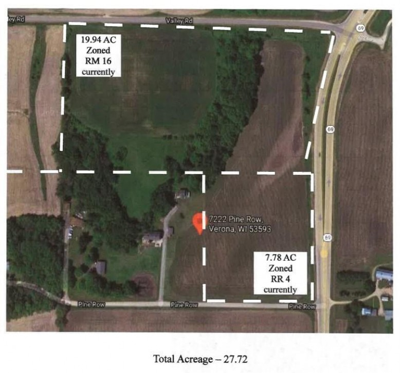 27.72AC Pine Row Rd & Hwy 69 Verona, WI 53593 by First Weber Real Estate $1,940,400