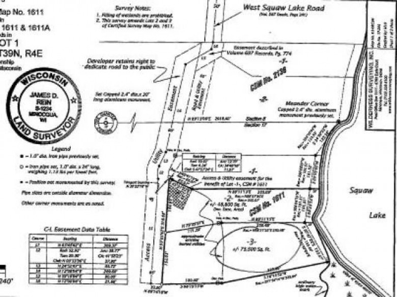 LOT 3 Squaw Lake Rd W, Minocqua, WI by Coldwell Banker Mulleady - Mnq $119,000