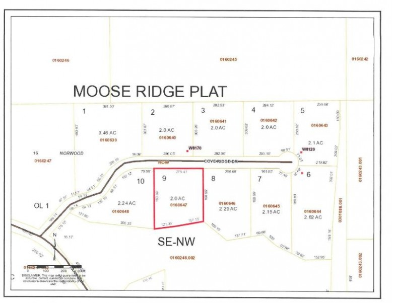 ON Cove Ridge Dr LOT 9, Norwood, WI by Wolf River Realty $19,900