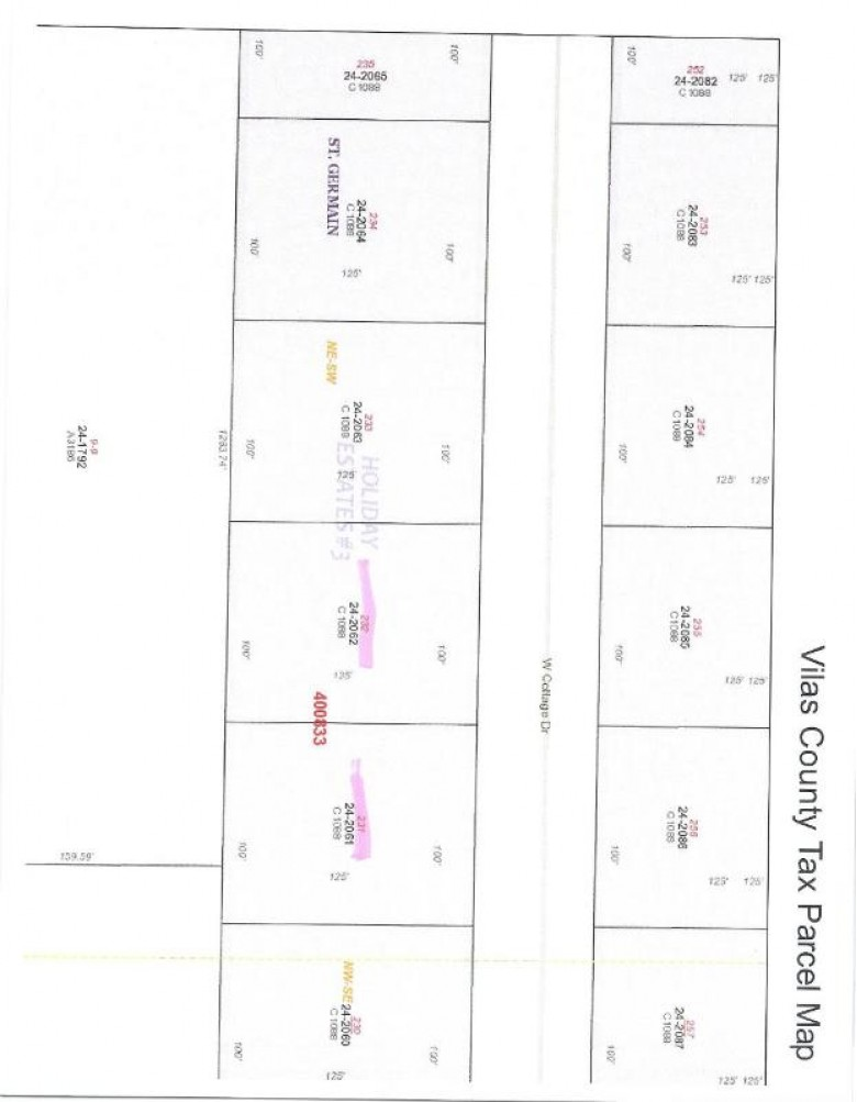 LOT 231 Cottage Dr W, St. Germain, WI by Eliason Realty Of St Germain $9,500