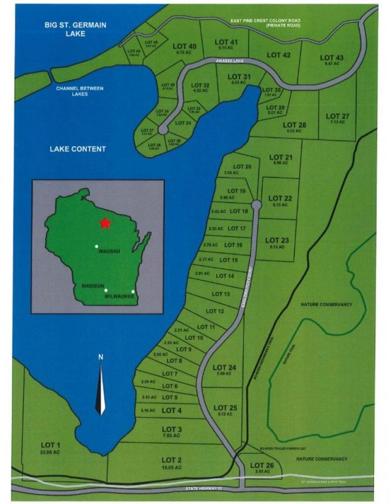 LOT 2 Eaglewatch Ct, St. Germain, WI by Redman Realty Group, Llc $99,000