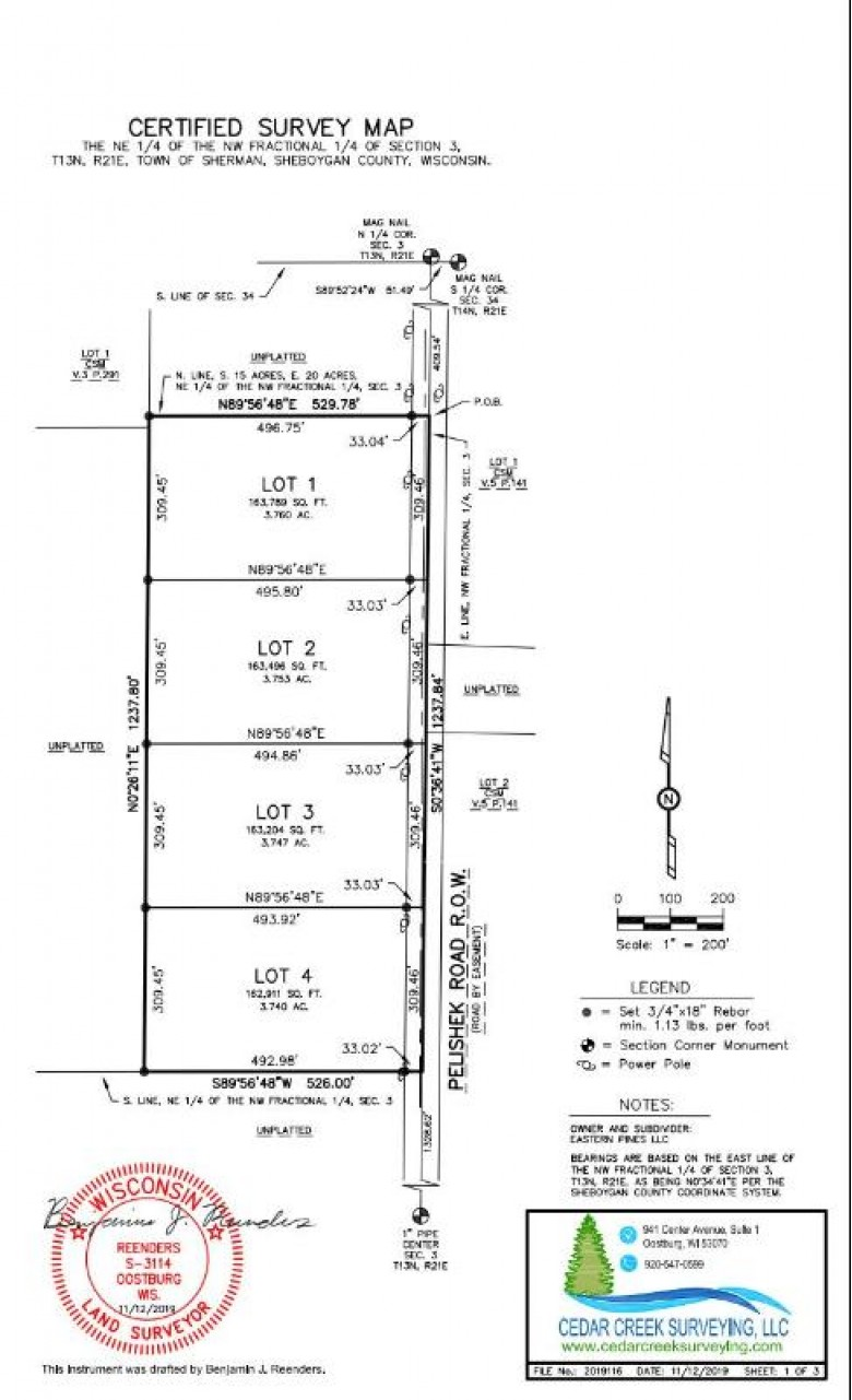 LT3 Pelishek Rd, Adell, WI by Benefit Realty $59,900