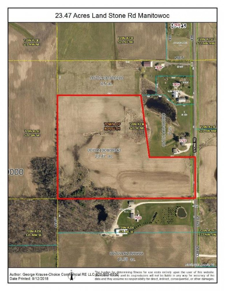 PCL 2 Stone Rd, Manitowoc, WI by Choice Commercial Real Estate Llc $232,500