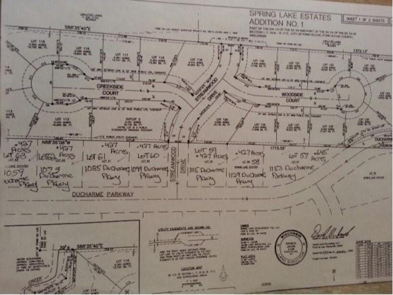 1059 Ducharme Parkway LOT 63, Fond Du Lac, WI by Roberts Homes and Real Estate $49,900