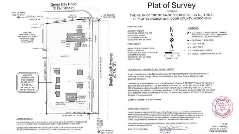911 GREEN BAY Road Sturgeon Bay, WI 54235-3814 by Resource One Realty, LLC $1,200,000